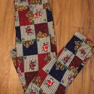 LuLaRoe Christmas Leggings With Santa 🎅🏽